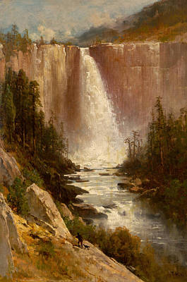Yosemite Painting - Nevada Falls Yosemite by Thomas Hill