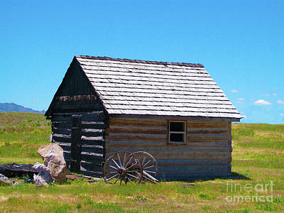 Photograph - Nevada Homestead by Stephen Mitchell