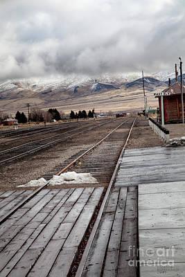 Vintage Photograph - Nevada Northern Railway Complex by David Millenheft
