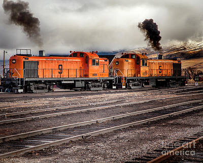 Photograph - Nevada Northern Train Large Canvas Art, Canvas Print, Large Art, Large Wall Decor, Home Decor by David Millenheft