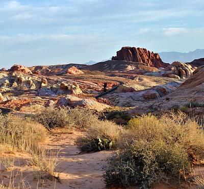 Photograph - Nevada Rocks 1a by John Hintz
