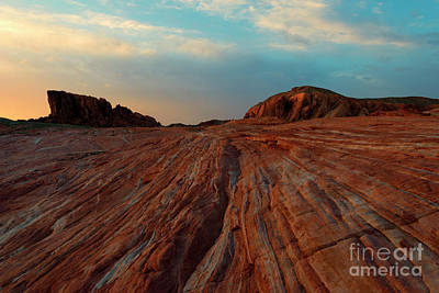 Photograph - Nevada Sandstone Sunset by Mike Dawson
