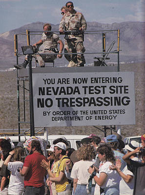 Photograph - Nevada Test Site 1992 by Alma