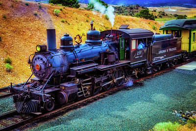 Virgina Photograph - Nevada Virgina And Truckee Steam Train by Garry Gay
