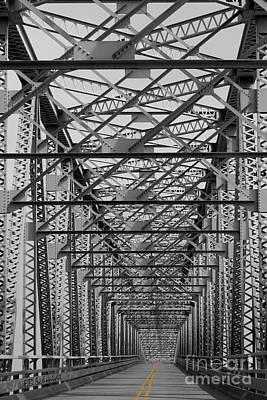Photograph - Never Ending Bridge Black And White by E B Schmidt