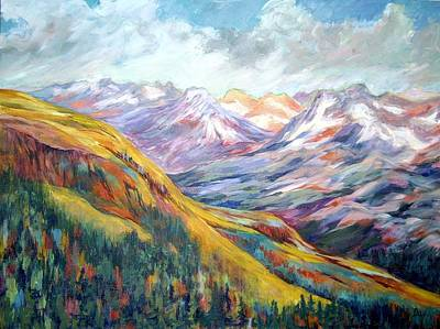 Painting - Never Ending Valley   by Nancy Day