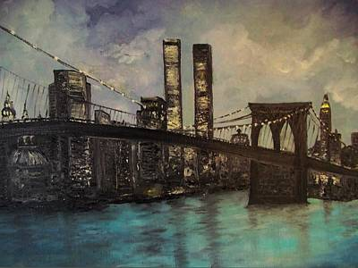 Wip Painting - Never Forget  9 11 New York Ny by Rhonda Lee