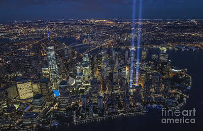 Photograph - Never Forget-an Aerial Tribute by Roman Kurywczak