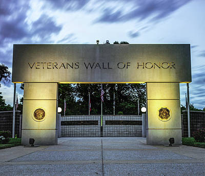 Photograph - Never Forget - Veterans Wall Of Honor - Bella Vista Arkansas by Gregory Ballos
