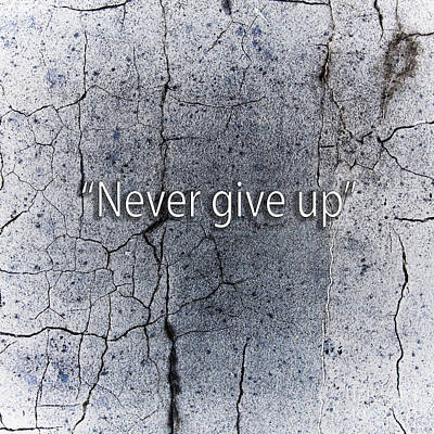 Photograph - Never Give Up by Gunnar Orn Arnason
