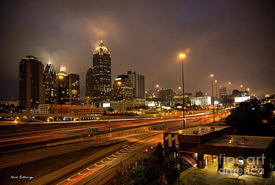 Photograph - Never Sleeping Atlanta In Motion Midtown Light Trails Art by Reid Callaway