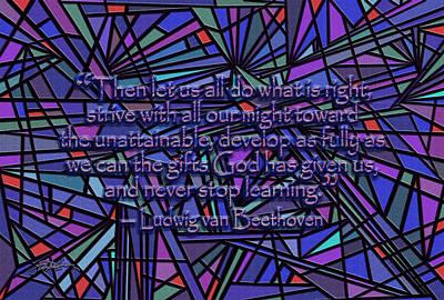 Christian Artwork Digital Art - Never Stop Learning by Douglas Christian Larsen