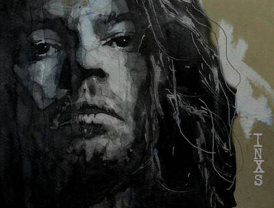 Wales Wall Art - Painting - Never Tear Us Apart - Michael Hutchence  by Paul Lovering