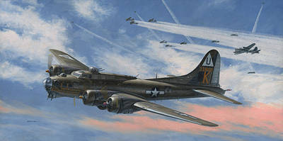 B-17 Wall Art - Painting - Never Turned Back by Wade Meyers