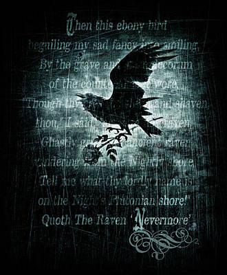 Raven Mixed Media - Nevermore by Alchemy