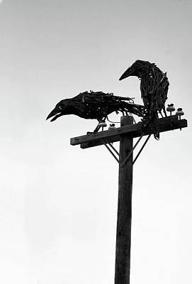 Telephone Poles Photograph - Nevermore by Kristin Elmquist