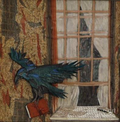 Mosaic Mixed Media - Nevermore by Wendy Hackett