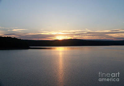 Photograph - Neversink Reservoir At Sunset by Kevin Croitz