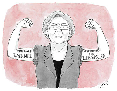 Drawing - Nevertheless She Persisted by Tom Toro