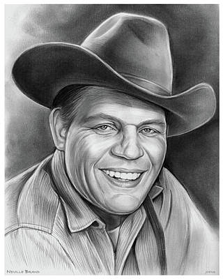 Drawing - Neville Brand by Greg Joens
