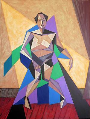 Painting - Neville Is Sitting On A Chair Covered With A Throw by Tamara Savchenko