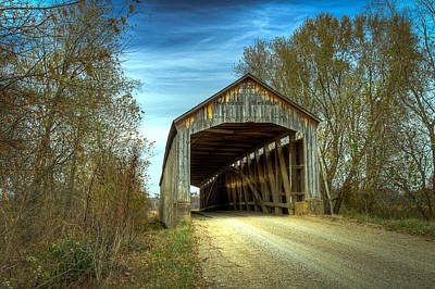 Music Royalty-Free and Rights-Managed Images - Nevins Covered Bridge by Jack R Perry