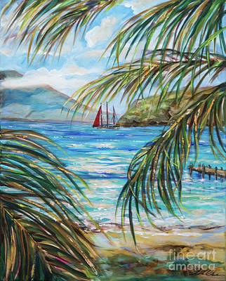 Painting - Nevis In The Distance by Linda Olsen