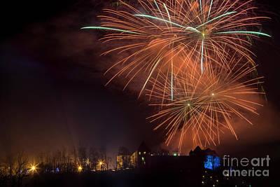 Vladimir Putin Photograph - New 2017 Year Fireworks, Ljubljan by Vyacheslav Isaev