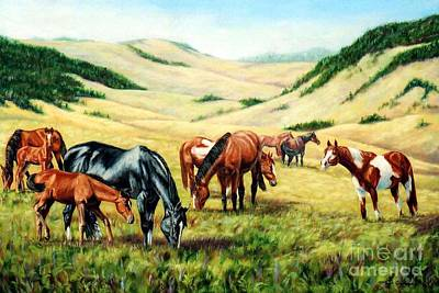 Kentucky Painting - New Additions To The Herd by Tom Chapman