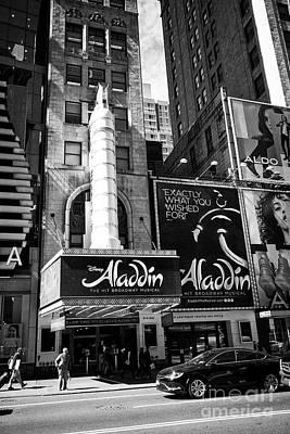 Aladdin Photograph - new amsterdam theatre with aladdin New York City USA by Joe Fox