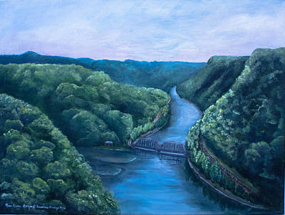 White Water Rafting Painting - New And Gauley River  by Susanne Hastings