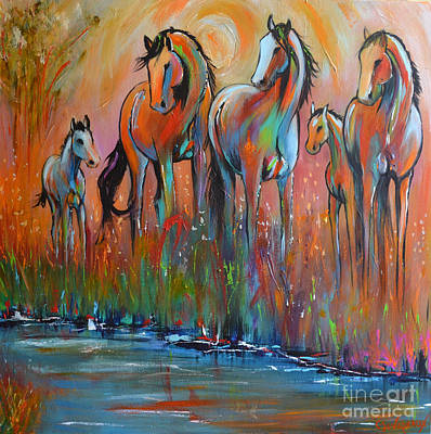 Wild Horse Painting - New Arrivals by Cher Devereaux