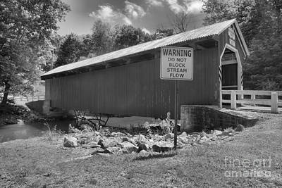 Photograph - New Baltimore Covered Bridge Side View by Adam Jewell