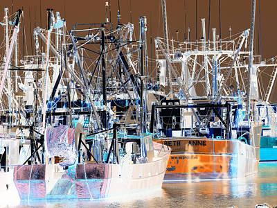 Bedford Digital Art - New Bedford Fishing Trawlers by Anna Maria Virzi
