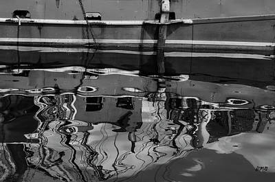Photograph - New Bedford Waterfront No. 9 Bw by Dave Gordon