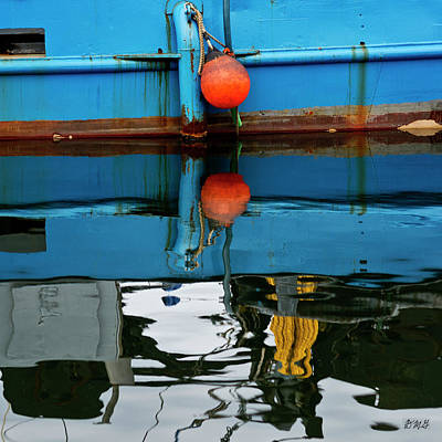 Black Commerce Photograph - New Bedford Waterfront Xix Color by David Gordon