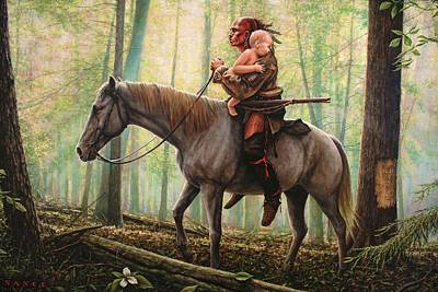 War Horse Painting - New Beginnings by Dan Nance