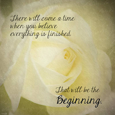 Photograph - New Beginnings Inspirational by Teresa Wilson
