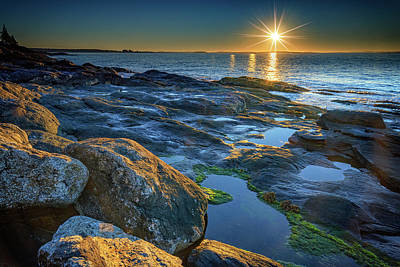 New Beginnings On Muscongus Bay Art Print by Rick Berk