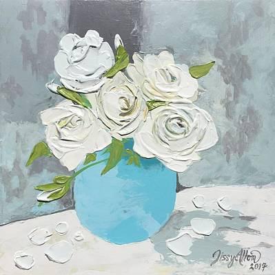 Rosen Painting - New Beginnings Roses by Sissy Altom
