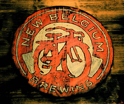 Painting - New Belgium Brewing Bicycle by David Lee Thompson