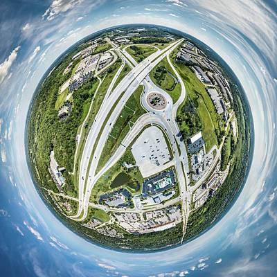 Photograph - New Berlin Little Planet by Randy Scherkenbach
