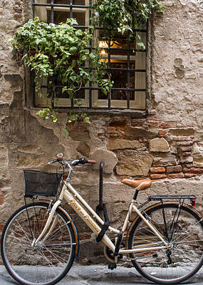 New Bike In Old Lucca Art Print
