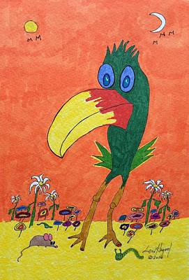 Painting - New Bird On The Block by Lew Hagood