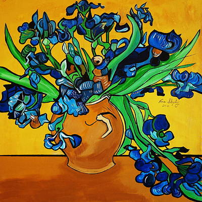 Painting - New Blue By You by Nora Shepley