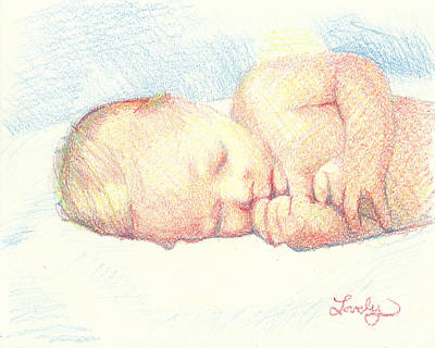 Drawing - New Born William by Candace Lovely