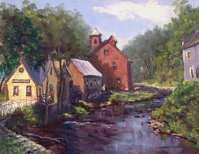 New Boston On The River Art Print