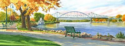 Painting - New Bridge 2004 by Phyllis Martino