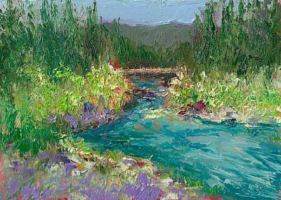 Painting - New Bridge At Wawona by Shannon Grissom