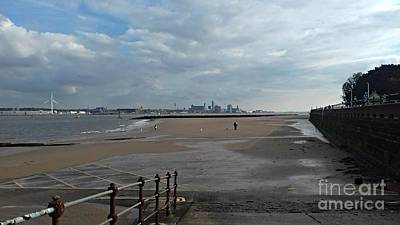 Photograph - New Brighton Beach In View Of Liverpool by Joan-Violet Stretch